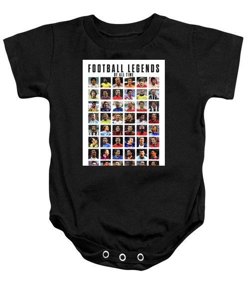 Football Legends Baby Onesie by Semih Yurdabak
