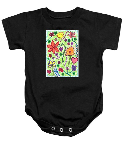 For The Love Of Flowers Baby Onesie