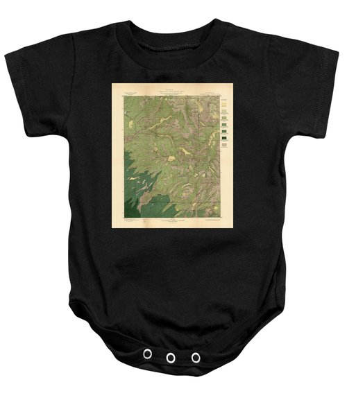 Forest Cover Map 1886-87 - Dardanelles Quadrangle - California - Geological Map Baby Onesie