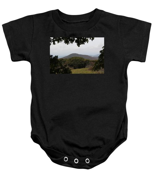 Forest Dark Space Baby Onesie