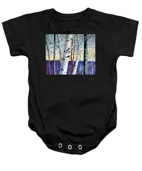 Forest Of Trees Baby Onesie