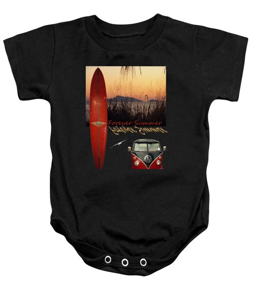 Baby Onesie featuring the photograph Forever Summer 1 by Linda Lees