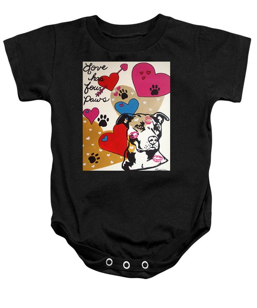 Four Pitty Paws Baby Onesie