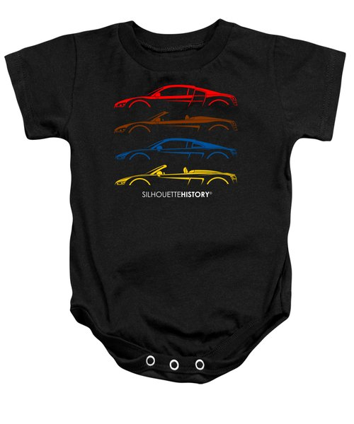 Four Ring Sports Car Silhouettehistory Baby Onesie