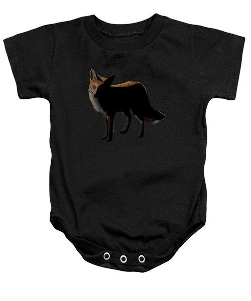 Fox In The Moonlight Baby Onesie
