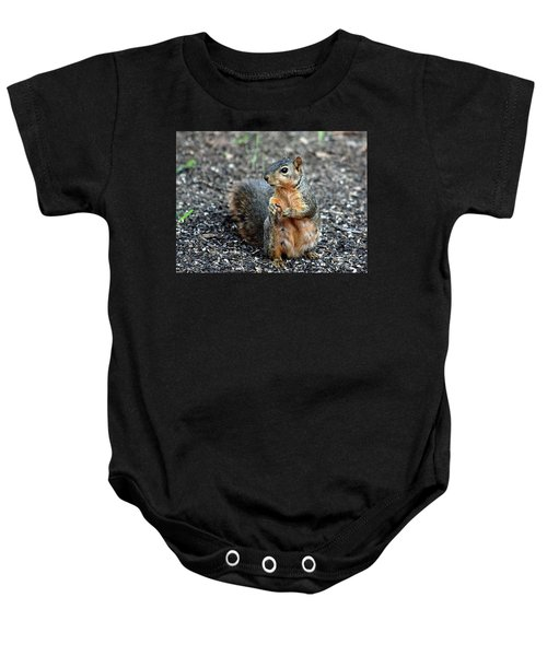 Fox Squirrel Breakfast Baby Onesie