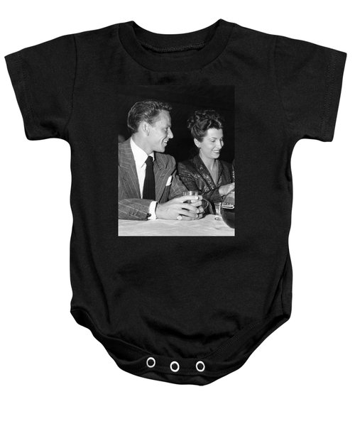 Frank Sinatra And Nancy Baby Onesie by Underwood Archives