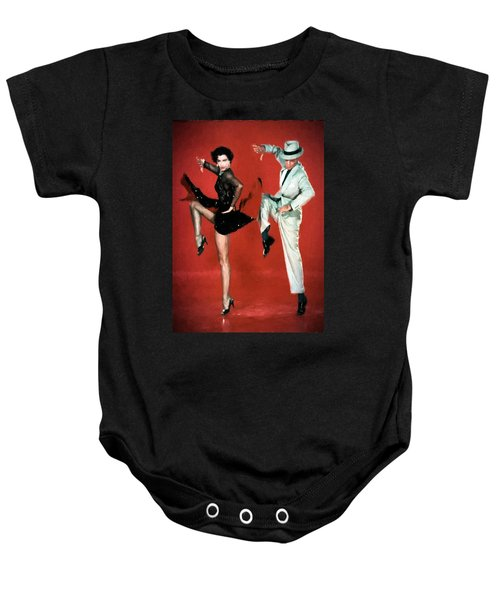 Baby Onesie featuring the digital art Fred And Cyd by Charmaine Zoe