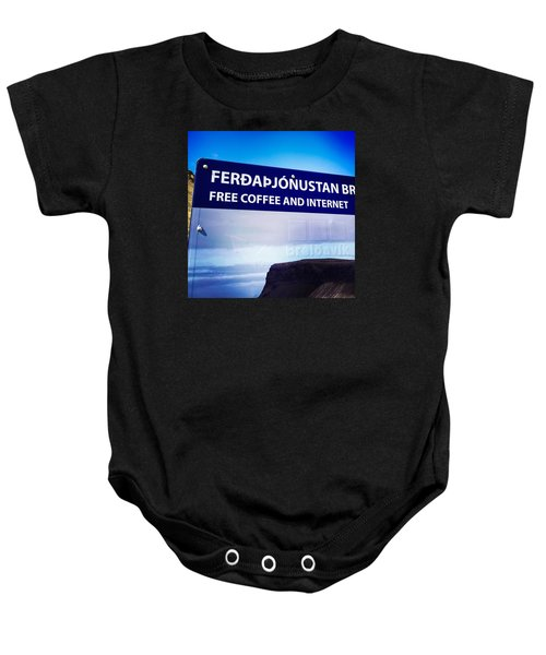 Free Coffee And Internet - Sign In Iceland Baby Onesie