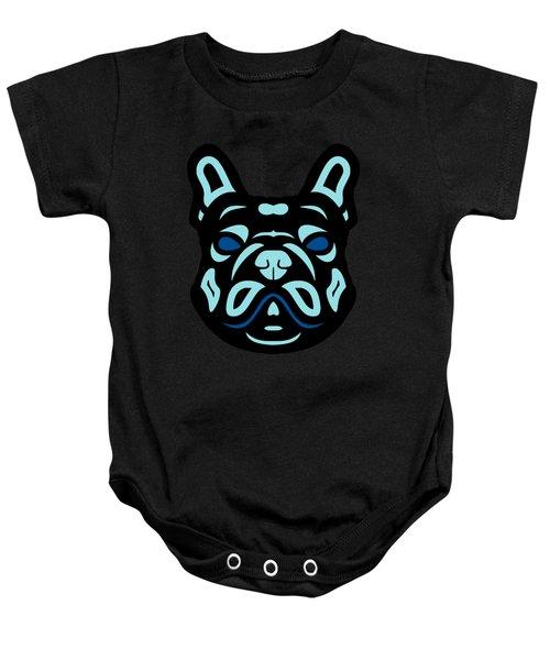 French Bulldog Francis - Dog Design - Hazelnut, Island Paradise, Lapis Blue Baby Onesie