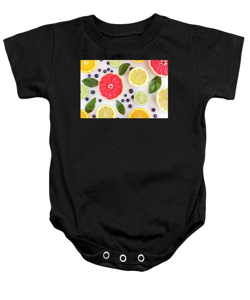Fresh Citrus Fruits Baby Onesie