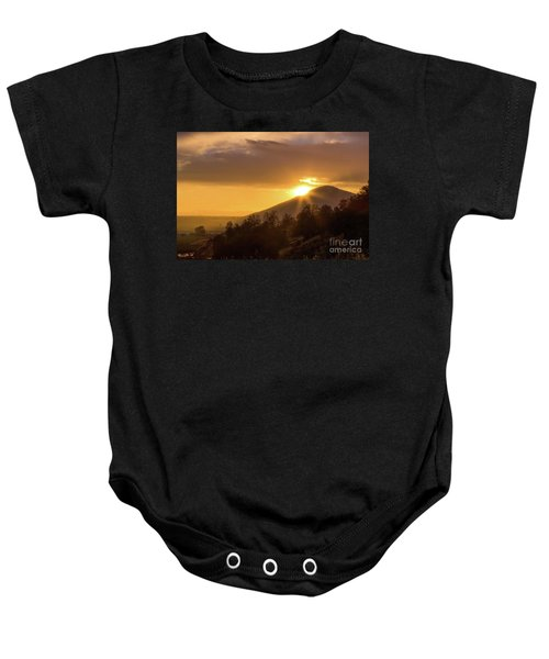 Baby Onesie featuring the photograph Fresno Sunset  by Vincent Bonafede