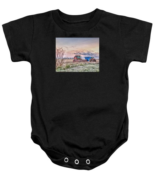 Frosty Farm Morning Baby Onesie