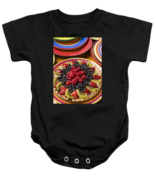 Fruit Tart Pie Baby Onesie by Garry Gay