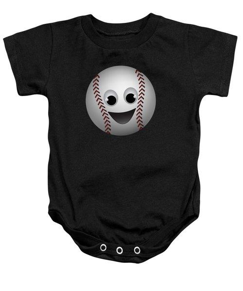 Fun Baseball Character Baby Onesie