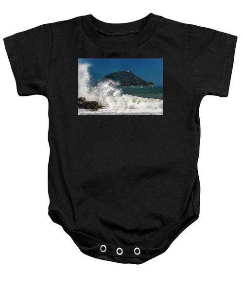 Gallinara Island Seastorm - Mareggiata All'isola Gallinara Baby Onesie