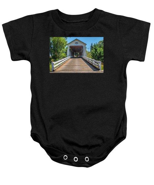Gallon House Covered Bridge Baby Onesie