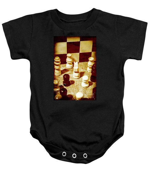 Game Of Chess And Tactics Baby Onesie