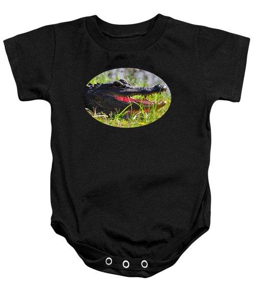 Gator Grin .png Baby Onesie