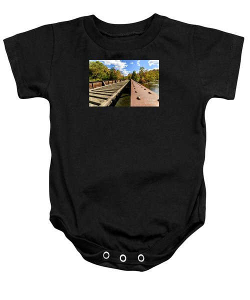 Gauley River Railroad Trestle Baby Onesie