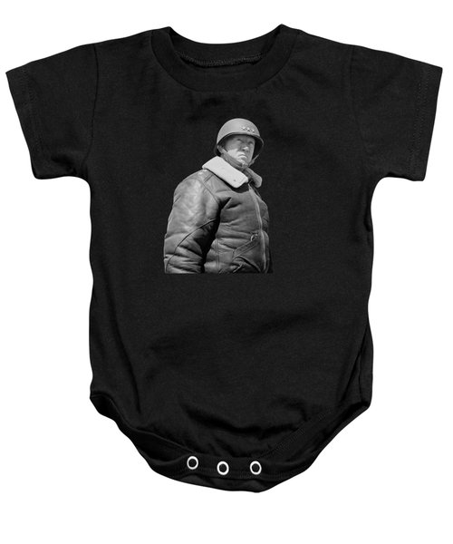 General George S. Patton Baby Onesie by War Is Hell Store