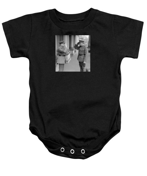 General John Pershing Saluting Babe Ruth Baby Onesie by War Is Hell Store