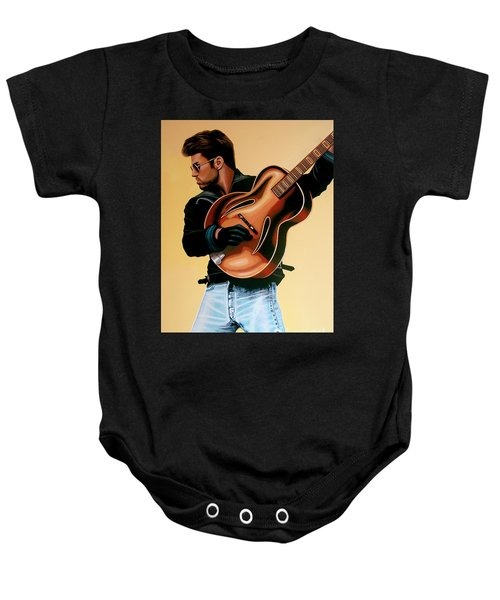 George Michael Painting Baby Onesie