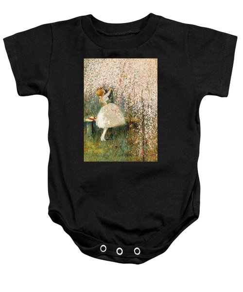 Georges Picard French 1857 1946 Romance Under The Blossom Tree Baby Onesie