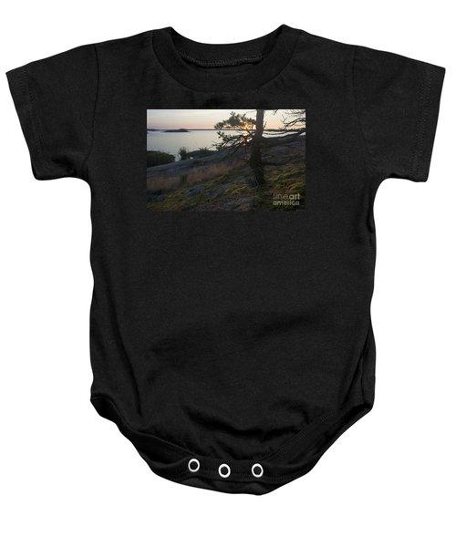 Georgian Bay Sunrise-moss 4253 Baby Onesie
