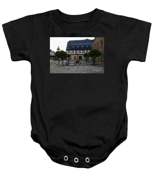 German Town Square Baby Onesie