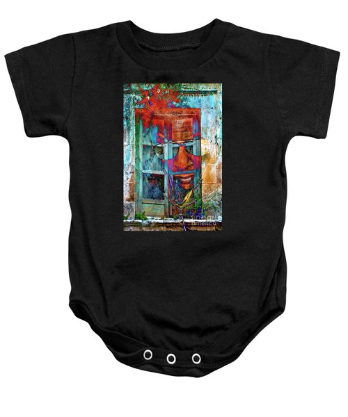 Ghost Goes Through Wall Baby Onesie