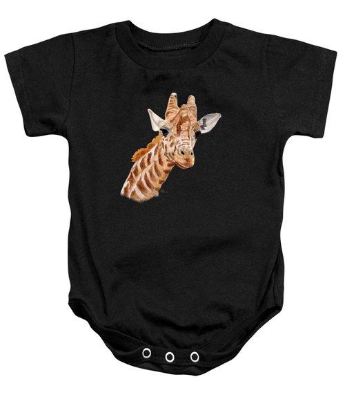 Giraffe Portrait Baby Onesie