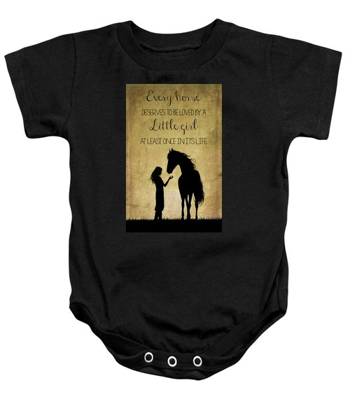 Girl And Horse Silhouette Baby Onesie