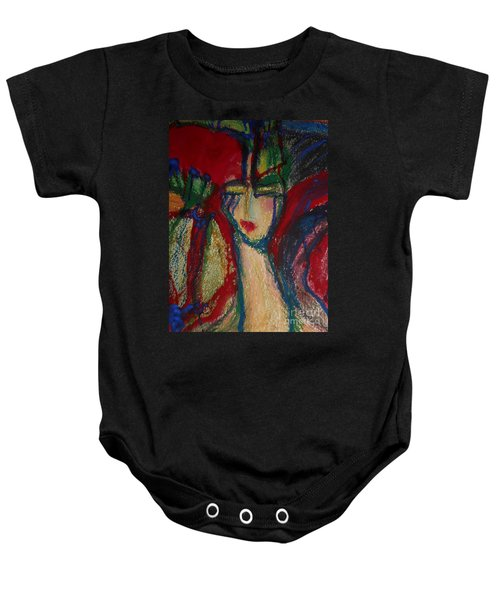 Girl In Darkness Baby Onesie