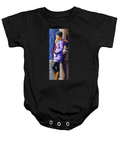 Girl Waiting Baby Onesie