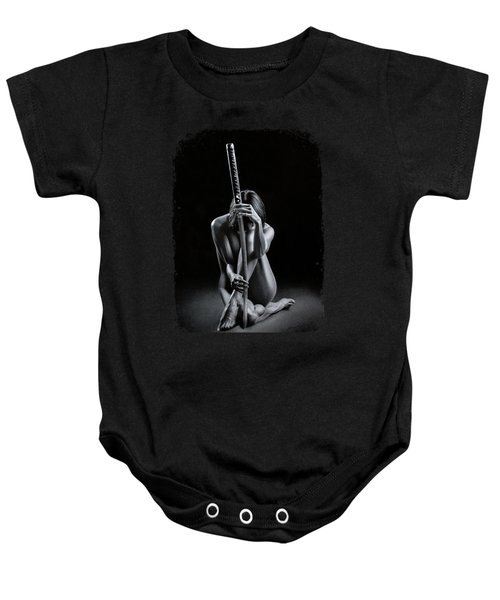 Girl With Katana Baby Onesie
