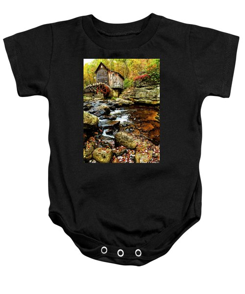 Glade Creek Grist Mill Fall  Baby Onesie