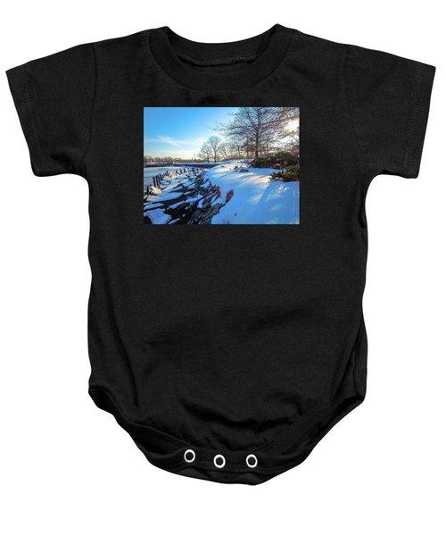 Glen Island Snowfall Baby Onesie