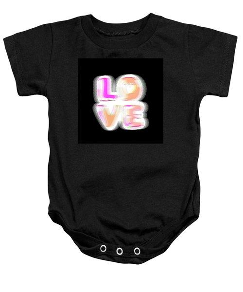 Glitch In Black Baby Onesie