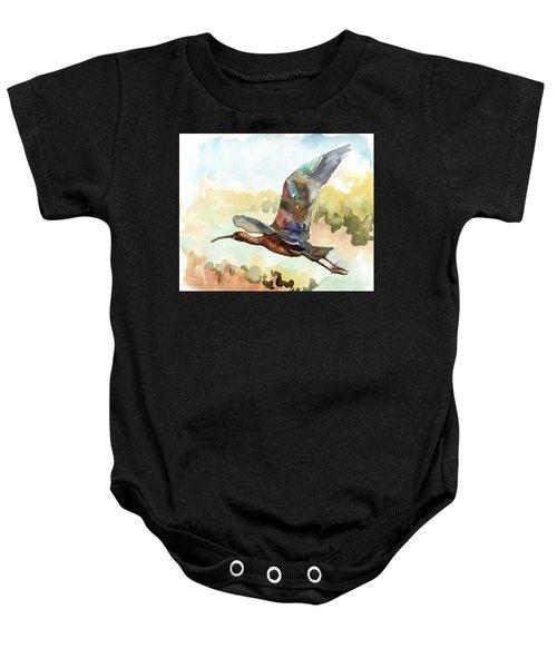 Glossy Ibis Baby Onesie