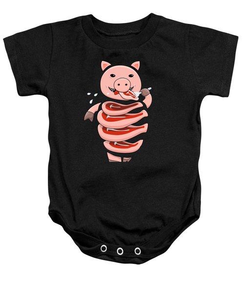 Gluttonous Self-eating Pig Baby Onesie