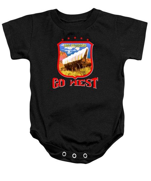 Go West Pioneer - Tshirt Design Baby Onesie