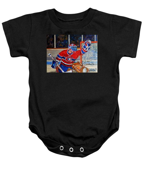 Goalie Makes The Save Stanley Cup Playoffs Baby Onesie
