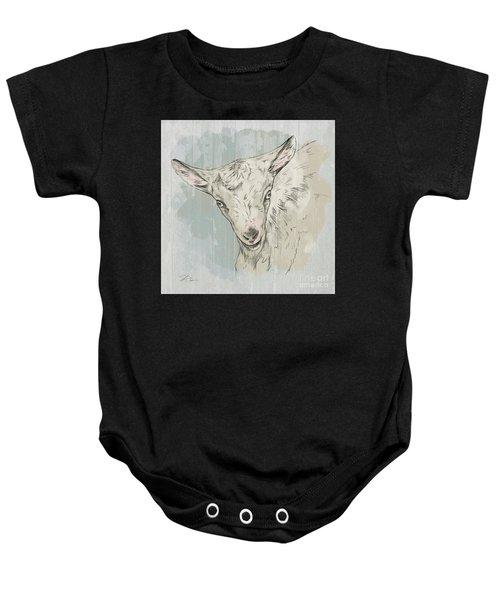 Goat Portrait-farm Animals Baby Onesie