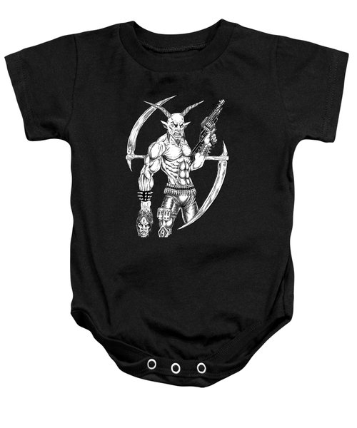 Goatlord Reaper Baby Onesie by Alaric Barca