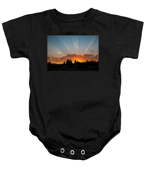 God Beams Baby Onesie