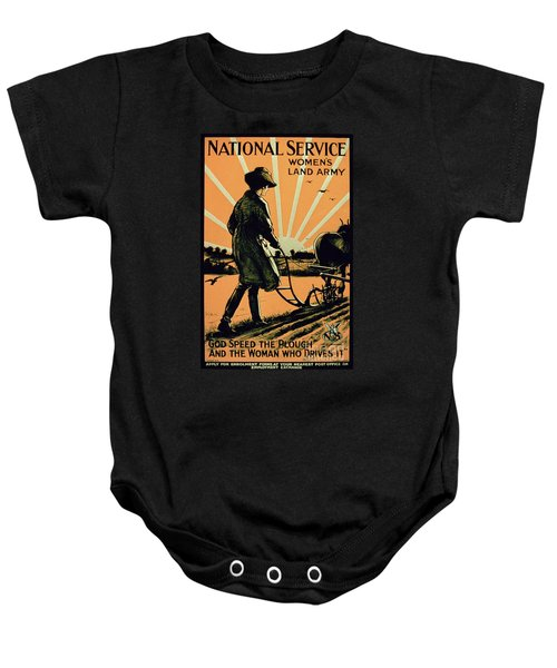 God Speed The Plough And The Woman Who Drives It Baby Onesie
