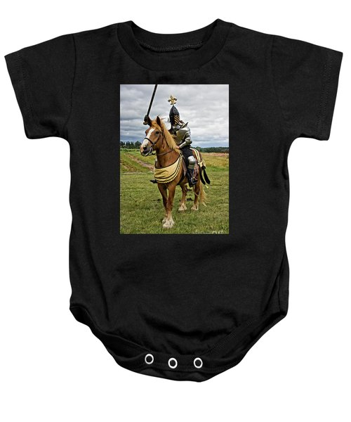 Gold And Silver Knight Baby Onesie