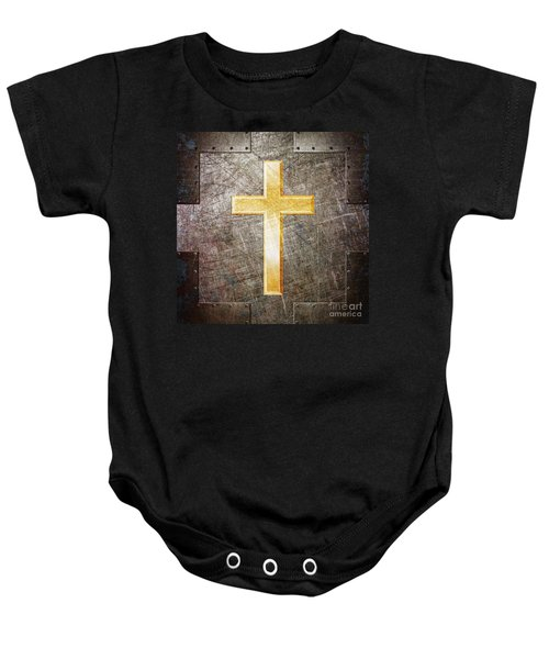 Gold And Silver Baby Onesie