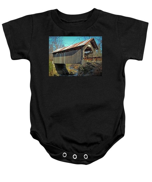 Gold Brook Bridge Baby Onesie
